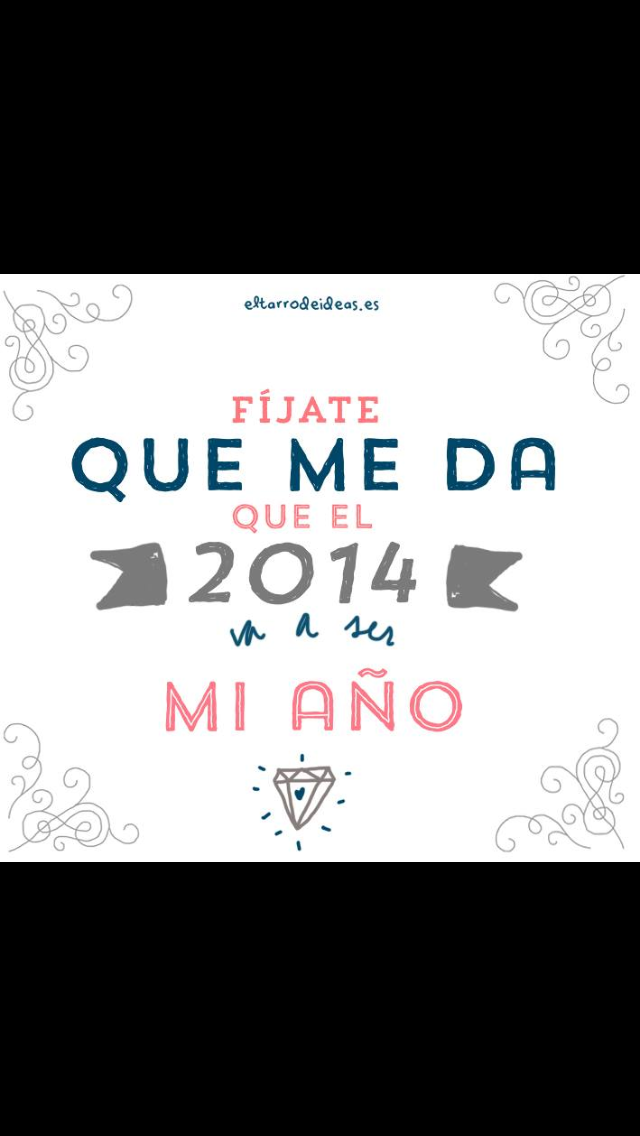 Fíjate que me da a mi que el 2014 va a ser mi año (imagen c) @eltarrodeideas)